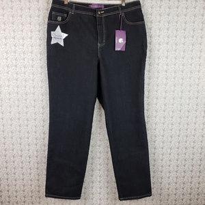Gloria Vanderbilt Dark Blue Amanda Denim Jeans 16W